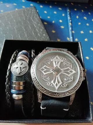 Reloj vintage Ksenrui + pulsera