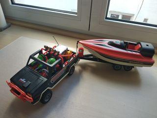 Coche y lancha Playmobil