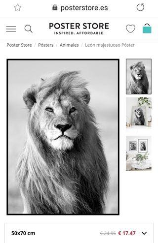 poster león 50x70 de posterstore