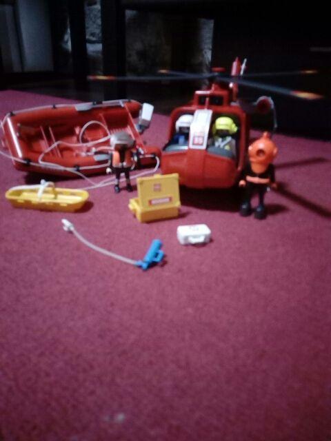 Juguete Playmobil rescate aéreo y marino