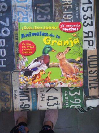 libro infantil con sonidos de animales de granja