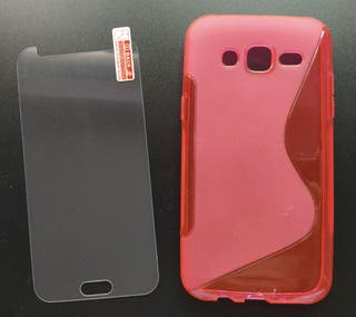 Funda y protector de pantalla - Samsung Galaxy J5