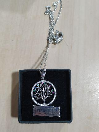 Collar de plata árbol de la vida