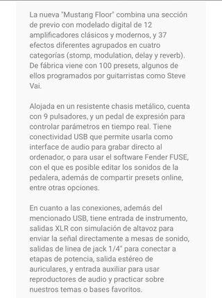 Pedalera Guitarra FENDER MUSTANG FLOOR