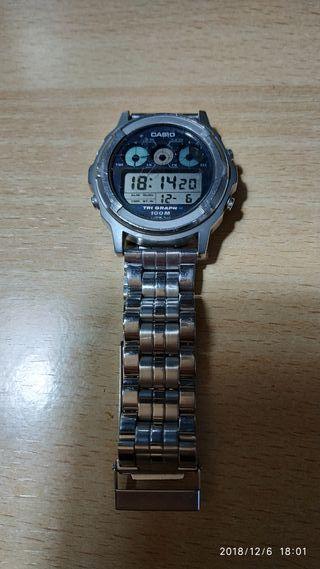 reloj vintage - antiguo - CASIO TGW-100 Module 827