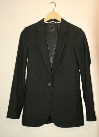 Massimo Dutti Blazer Americana Black