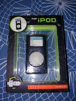 funda de cuero iPod nano 1st y 2nd