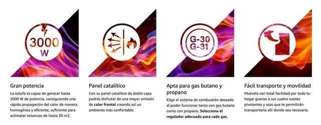 Estufa de Gas Propano / Butano - Orbegozo