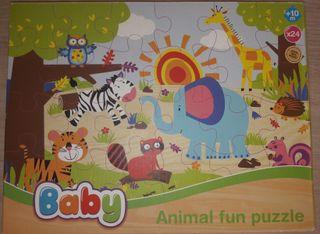 Animal Fun Puzzle de madera.