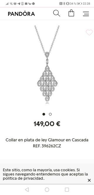 """Pandora. Collar plata de ley """"Glamour en Cascada"""""""