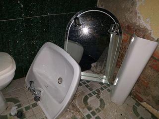 pack baño inodoro + lavabo + espejo + accesorios