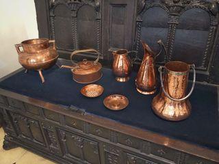 Piezas antiguas de cobre