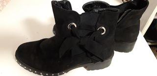 botas negras casi nuevas