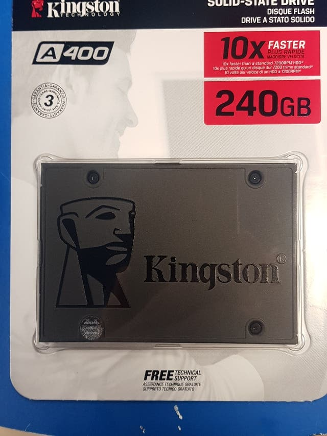 Disco Duro SSD 240 GB SOLIDO KINGSTON