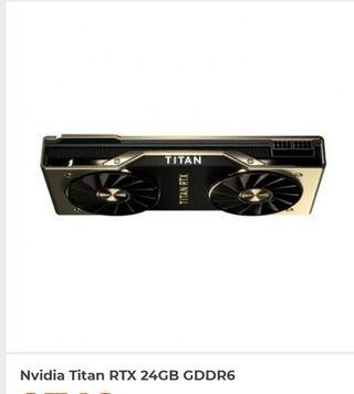 nueva tarjeta grafica titan rtx2080ti 24gb ddr6