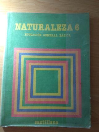 Libro de texto de Naturaleza de 6 EGB