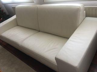 Sofá piel nuevo (sofá cama)