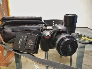 cámara Nikon D5200 + 2 objetivos