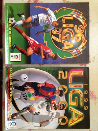 2 album de cromos de la liga 96-97 99-00