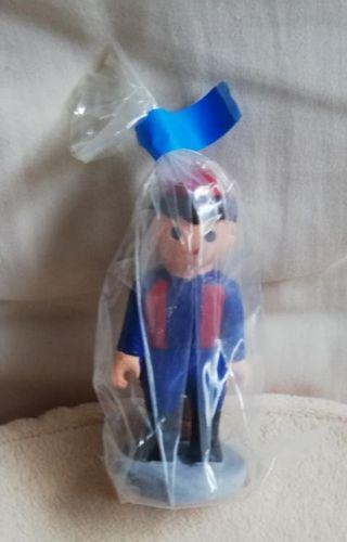 "Figura PLAYMOBIL culé/blaugrana ""caganer"". NUEVA"