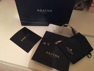 Pendientes joyas Agatha bisuteria plata circonita