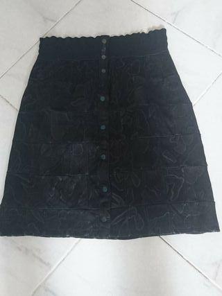 falda piel auténtica talla 42