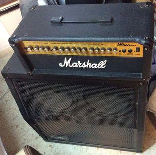 Amplificador Marshall guitarra. Cabezal MG100 HDFX