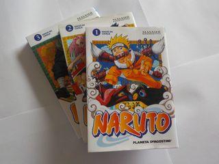 """3 Comics MANGA colección """"NARUTO""""."""