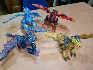 Dragones de juguete