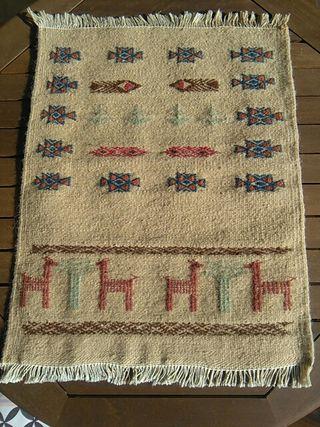 Kilim artesanal tunecino nuevo de lana
