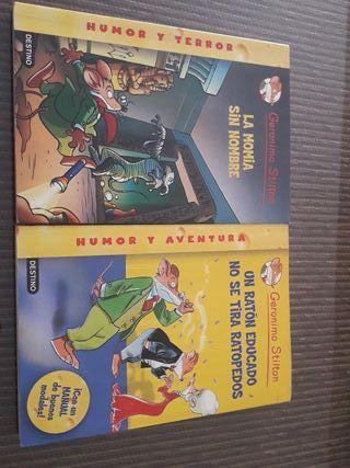 Dos libros Geronimo Stilton