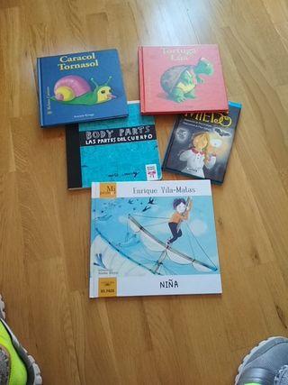 pack de 5 libros para niños pequeños