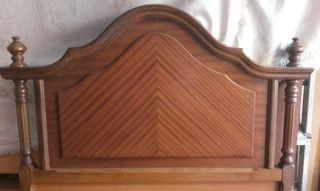Cabecero madera maciza, cama de 90 cm