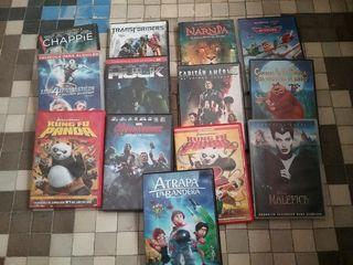 13 películas Dvd, Disney, Marvel,....