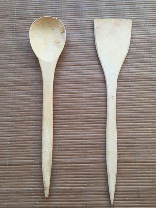 Cucharón y pala madera