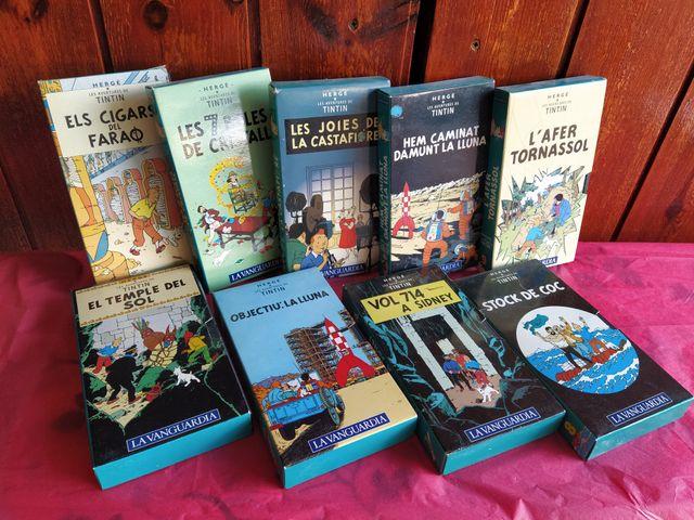 Pack de 9 películas Tintin VHS
