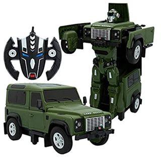 Coche radicontrol Land Rover Defender transformers
