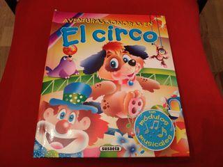 """Libro infantil con sonido """"El circo""""."""