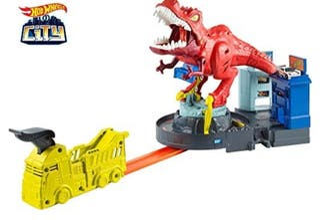 Hot Wheels City T-Rex Devorador Destructor, Pista