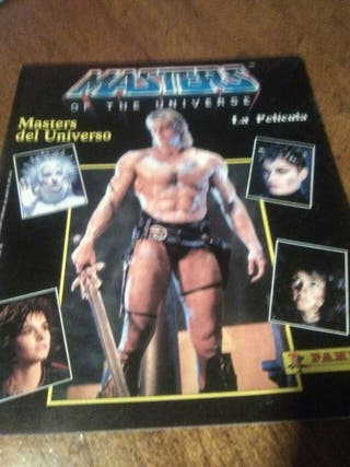 album de cromos COMPLETO masters del universo