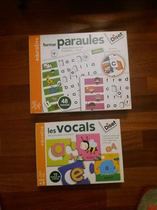 puzzles y juego formar palabras