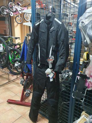 chaqueta y pantalones equipacion moto señora