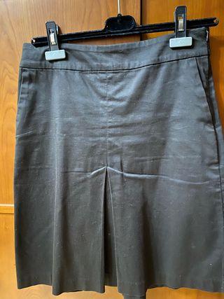 Falda de tubo marrón oscura