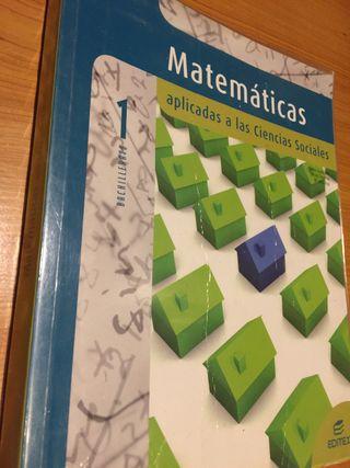 Libro de matemáticas 1º de bachillerato