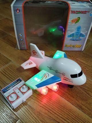 juguete avión con control remoto