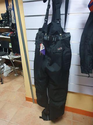 oferta !! pantalón moto con tirantes