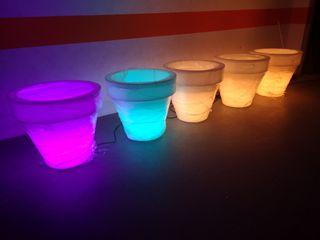 Macetas con led luces polietileno