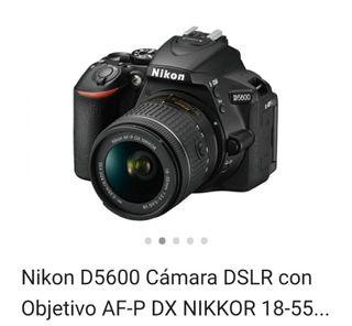 cámara Nikon 5600 y flash Metz
