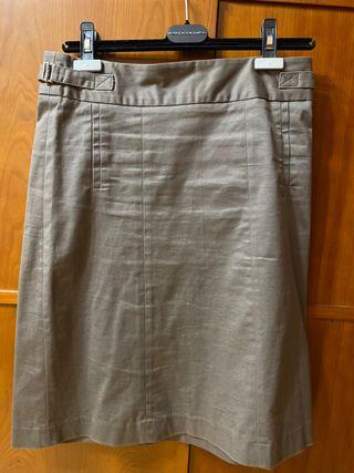 Falda de tubo marrón