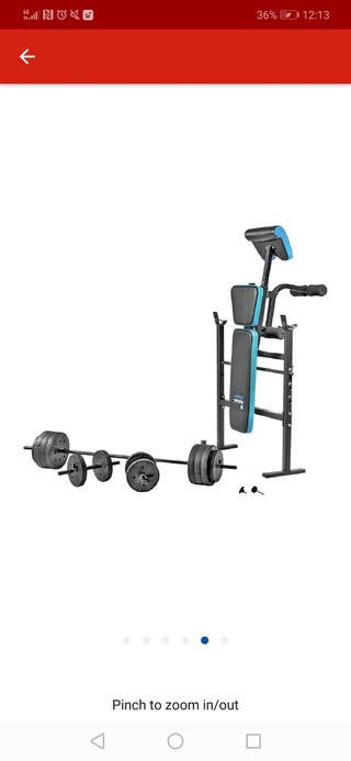weight bench with 50kg weights
